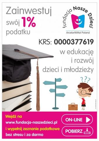 e-pity, 1% podatku dla Fundacji Nasze Dzieci 0000377619, opp, bezpłatny program do PIT