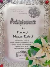 Fundacja Nasze Dzieci - podziękowanie od POW
